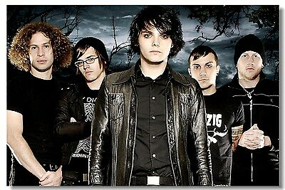 Poster My Chemical Romance Music Band Room Art Wall Cloth Print 216