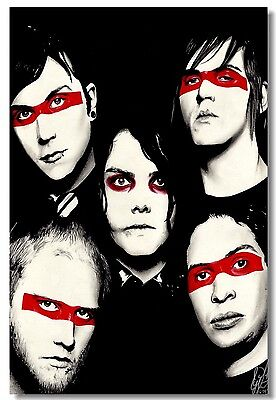 Poster My Chemical Romance Music Band Room Art Wall Cloth Print 205