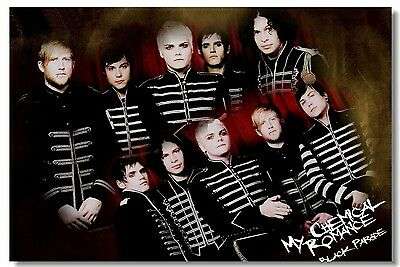 Poster My Chemical Romance Music Band Room Art Wall Cloth Print 210
