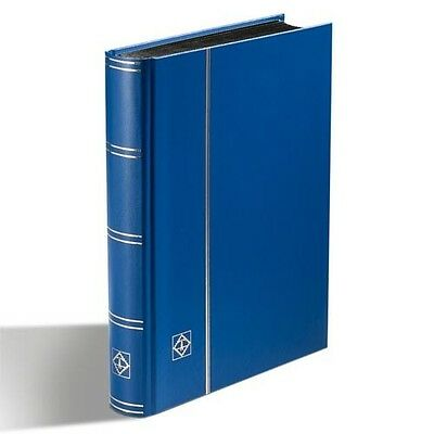 Stockbook DIN A5, 32 black pages, non-padded cover, blue