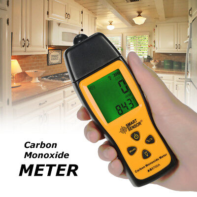 Handheld Carbon Monoxide Meter Detector CO Gas Tester Monitor LCD 0-1000ppm