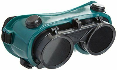 TWO Pair New Welding Cutting Welders Goggles Glasses Flip Up Dark Green Lenses