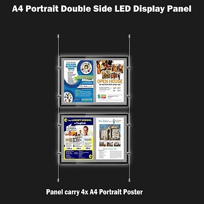 New A4 LED(4A4) Double Side Window Light Pocket Light Panel Estate Agent Display