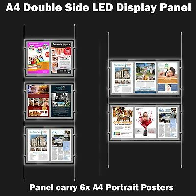 New A4 LED(6A4) Double Side Window Light Pocket Light Panel Estate Agent Display