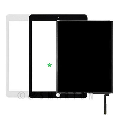 """USA A1822 A1823 iPad 5th Gen 9.7"""" LCD Display Touch Screen Digitizer Black White"""