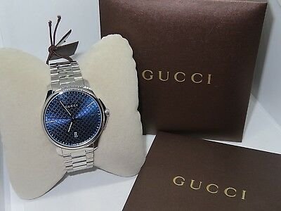 0d6eff48988 GUCCI G-TIMELESS MEN S Automatic Blue Dial SS Watch YA126316 ...
