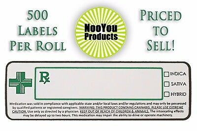 500 Dispensary Strain Labels (3x1) Medical Cannabis Packaging, State Compliant