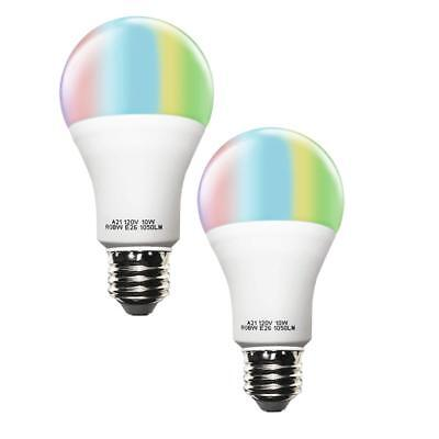 Smart A21 RGBW Tunable Warm White LED Bulbs, Cxy WiFi APP-Smartphone controlled
