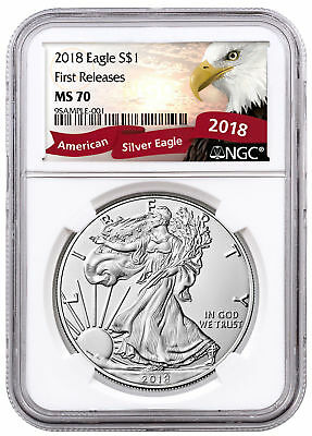 2018 American Silver Eagle NGC MS70 FR Exclusive Eagle Label SKU51119