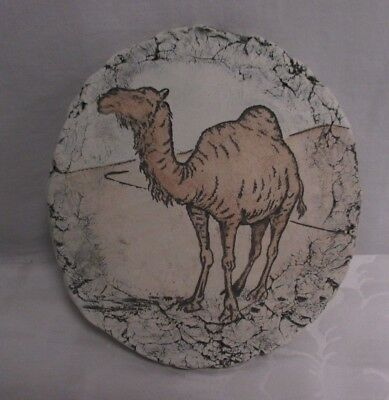 """Shapes of Clay Hand Painted Camel From Mt. Rainer Brand New 7.25"""" tall"""