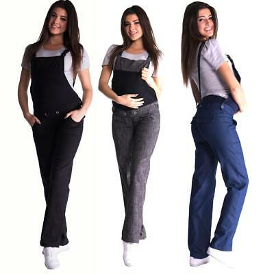 Maternity Pregnancy Cotton Jeans Dungarees Trousers Over Bump 8 10 12 14 16 18