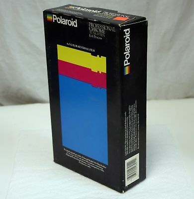 Vintage Polaroid 4x5 E-6 Slide Film 25 Sheets Factory Sealed Tungsten Exp Dec 86