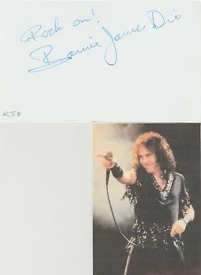 Ronnie James Dio signed card!