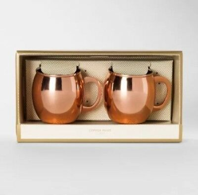 NEW Stainless Steel Moscow Mule Mug Copper - Set of 2 - Threshold