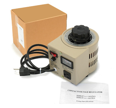 TDGC-0.5KVA 500VA Variac 0-130V AC Transformer Voltage Regulator