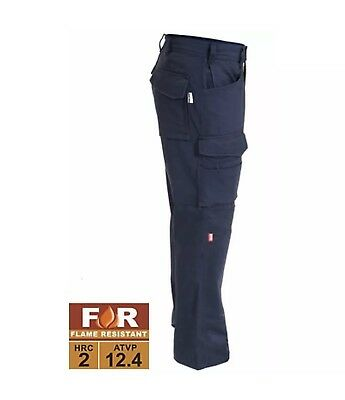 THRIVE Flame Resistant Tactical Build in Knee Pad Work Pants FR7820 32x30 NAVY *