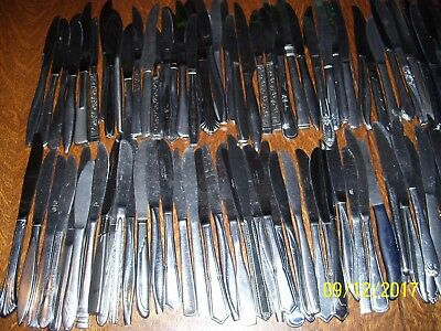 141 Piece Lot Total Of Assorted Flatware, Spoons, Knives, Forks, Church Supplies