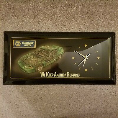1999 Ford Mustang SVT Cobra Electric Green Cutaway Clock, Napa AutoCare Center