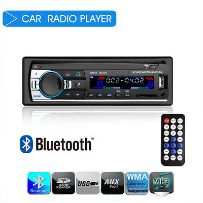 Car Stereo Audio Receiver Bluetooth In-Dash FM Aux USB/MP3 Radio Player Set NEW
