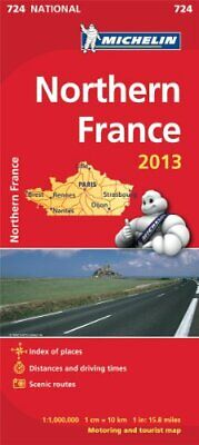 Northern France 2013 National Map 724 (Michelin National Maps) by Michelin Book
