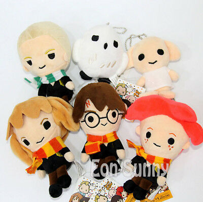Q Harry Potter Hermione Ron Malfoy Dobby Hedwig 9-14CM Plush Doll