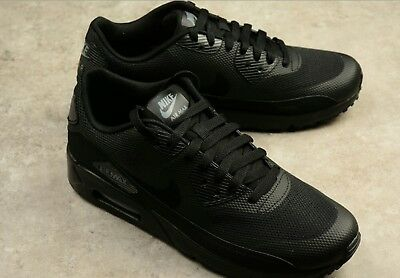 17312b4d45b76 MENS NIKE AIR MAX 90 ULTRA 2.0 ESSENTIAL TRIPLE BLACK SHOES 875695-002 Size  8-11