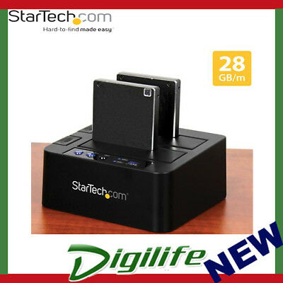 STARTECH USB 3.1 Standalone Duplicator Dock for 2.5in & 3.5in SATA SSD & HDD