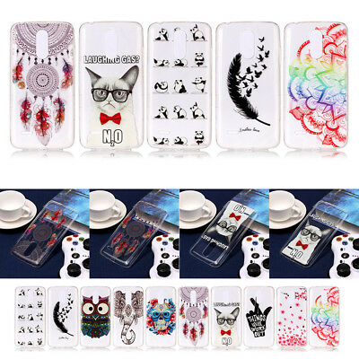 New Pattern Ultra-thin Clear Soft TPU Rubber Back Cover Case For LG K8/K10 2017