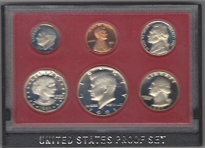 USA: United States Mint Proof Set 1981 mit 6 Münzen