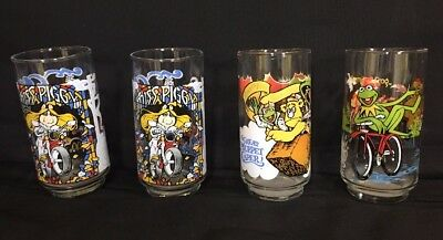 Lot Of 4 1981 GREAT MUPPET CAPER MCDONALD'S VINTAGE GLASSES - Kirmet, Ms. Piggy