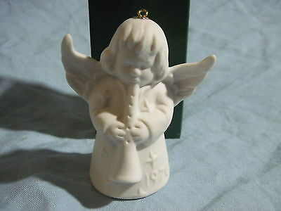 1976 Goebel ANGEL BELL ORNAMENT White Bisque in Box FREE SHIPPING