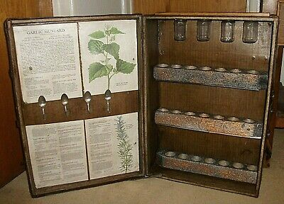 Spice Cabinet Cupboard Rack Shelf Unit From Vintage Wood Bound Suitcase Trunk