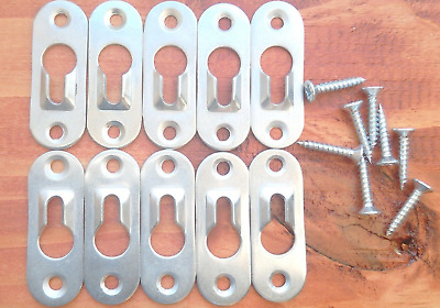 Uk sellerMetal Keyhole Frame Cabinet Picture Painting Hanger Shelfs Fixing 44*16