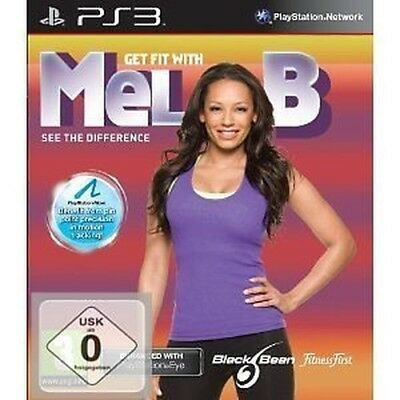Sony Ps 3 PS3 Jeu Get Fit With Mel B Déplacer Compatible Neuf