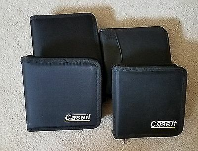 Caseit CD/DVD Case for 24 CDs/DVDs - Black Nylon