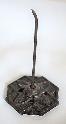 CAST IRON SPINDLE, VICTORIAN PAPER SPIKE, WALL HOOK, ANTIQUE OFFICE DECOR, Bill