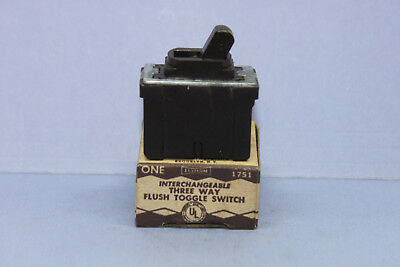 Vintage Despard Leviton Brown 3-WAY Toggle Light Switch - 10A 120V - #1751 - NEW