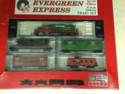 Micro Trains N Scale Train Set Evergreen Express Special Edition