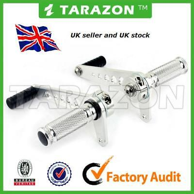 Cafe racer. Tarazon universal rearset footrests, anodised SILVER. black also