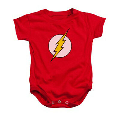 The Flash Logo DC Comics Licensed Infant Baby One-Piece Bodysuit - Red