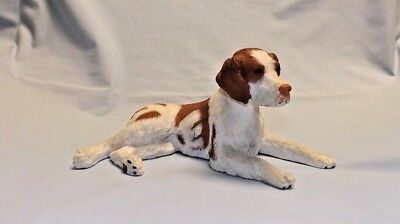 Brittany Spaniel dog figurine resin Brileyco inc USA NC as is vintage 1988