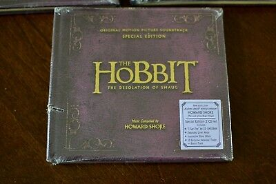 Hobbit: The Desolation of Smaug [Soundtrack] [Special Edition 2CD] SEALED VG
