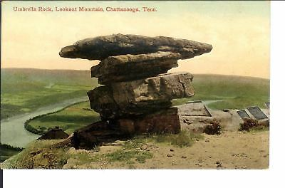 Antique Postcard Umbrella Rock Lookout Mountain Chattanooga TN 1912