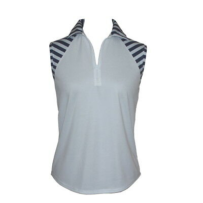 BNWT, Sleeveless Top in White With Stripes, FREE SHIPPING!