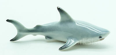 Figurine Animal Miniature Ceramic Statue Fish Shark - CQM003