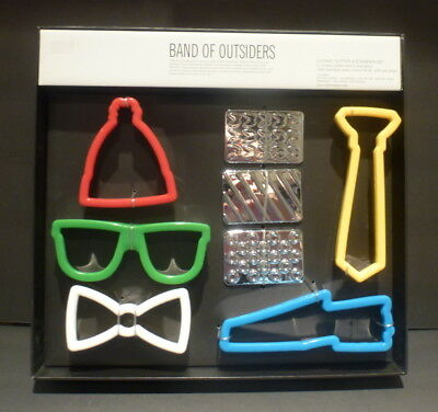 31f010b65e Neiman Marcus Band of Outsiders Cookie Cutters Bow Tie Glasses Shoe  +++NEW+++