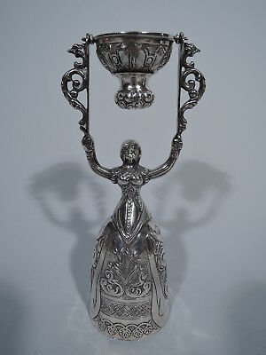 Wedding Cup - Wager Cup with Renaissance Lady - Dutch 934 Silver