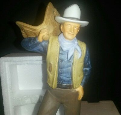 John Wayne Avon Images of Hollywood as Bob Seton Dark Command Porcelain Figurine