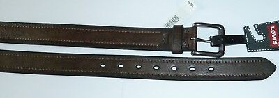 Levis Logo Leather  Belt  Brown NWT New