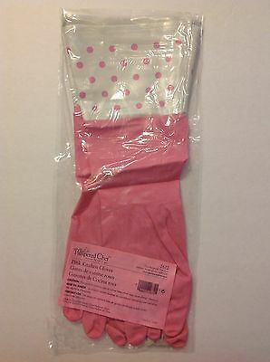 The Pampered Chef Pink Kitchen Gloves #2672 Large
